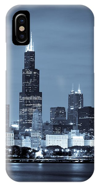 IPhone Case featuring the photograph Sears Tower In Blue by Sebastian Musial