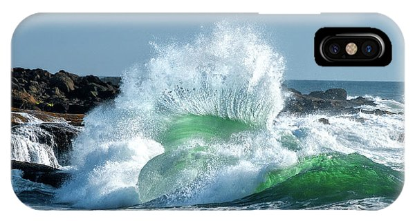 Explosion iPhone X Case - Seascape 3 by David Rothstein