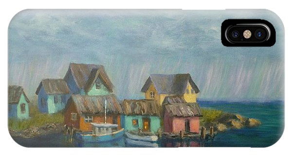 Seascape Boat Paintings IPhone Case