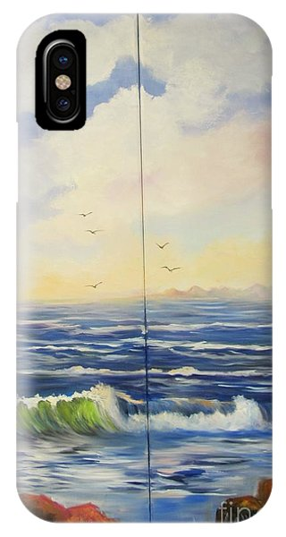 Seascape With Rocks IPhone Case