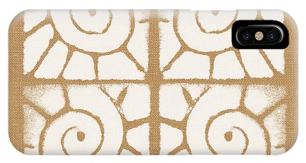 Aztec iPhone Case - Seashell Tiles by Linda Woods