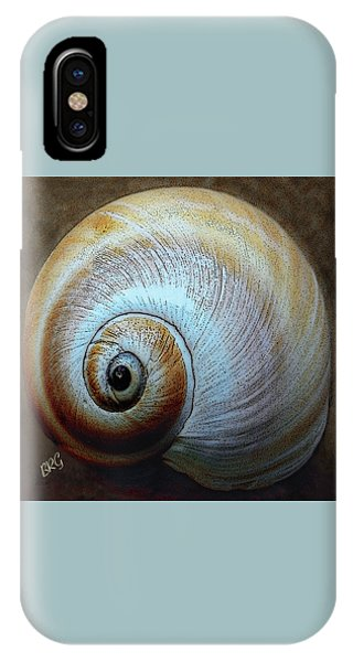 Shell Texture iPhone Case - Seashells Spectacular No 36 by Ben and Raisa Gertsberg