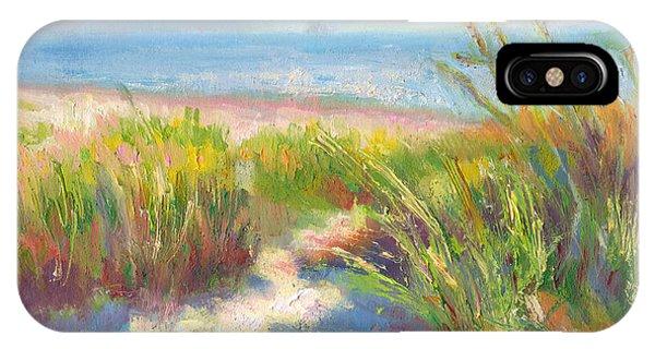 Meditative iPhone Case - Seaside Afternoon by Talya Johnson