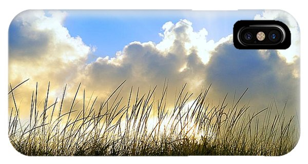 Seaside Grass And Clouds IPhone Case