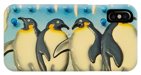 Seaside Funtown Penguins IPhone Case