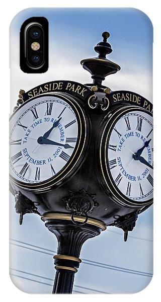Seaside Park September 11 Memorial Clock IPhone Case