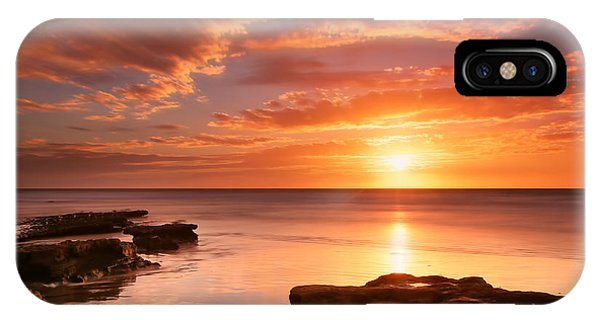 Sun iPhone Case - Seaside Reef Sunset 15 by Larry Marshall