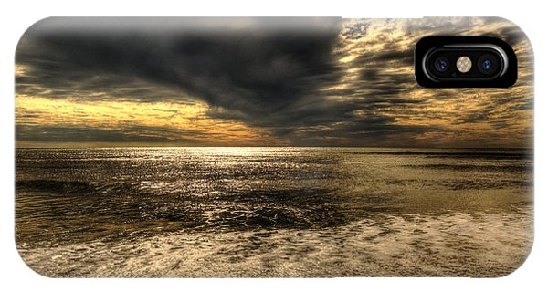Seaside Sundown With Dramatic Sky IPhone Case