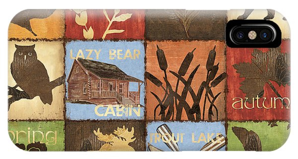 Trout iPhone Case - Seasons Lodge by Debbie DeWitt