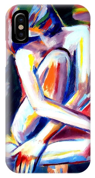 Seated Lady IPhone Case
