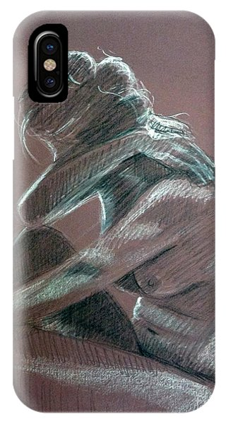 Seated Woman Side Light IPhone Case