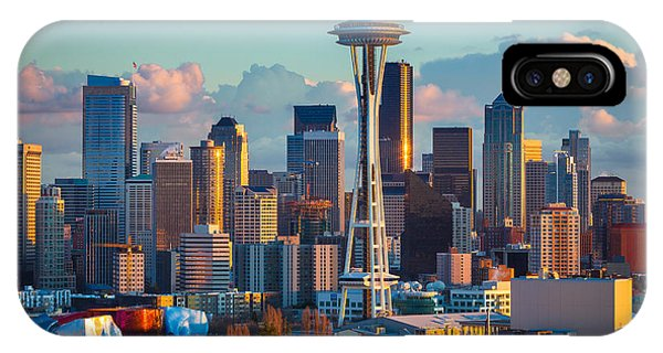 Downtown Seattle iPhone Case - Seattle Afternoon by Inge Johnsson