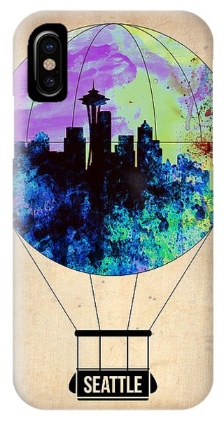 Seattle iPhone X Case - Seattle Air Balloon by Naxart Studio