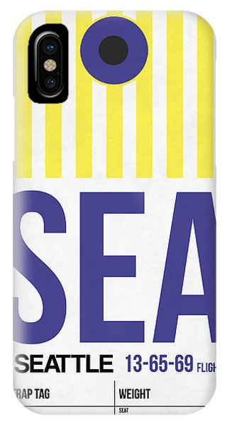 Seattle iPhone X Case - Seattle Airport Poster 3 by Naxart Studio