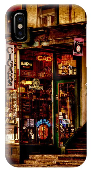 Downtown Seattle iPhone Case - Seattle Cigar Shop by David Patterson