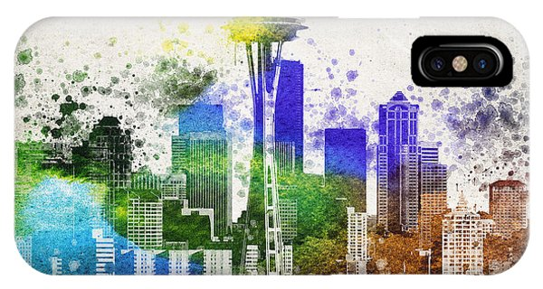 Seattle City Skyline IPhone Case