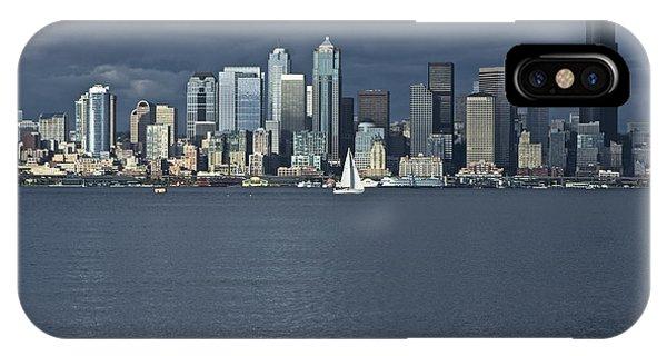 Seattle Cityscape From Alki Beach IPhone Case