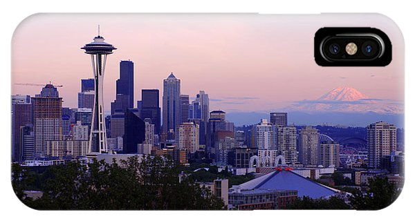Seattle iPhone Case - Seattle Dawning by Chad Dutson