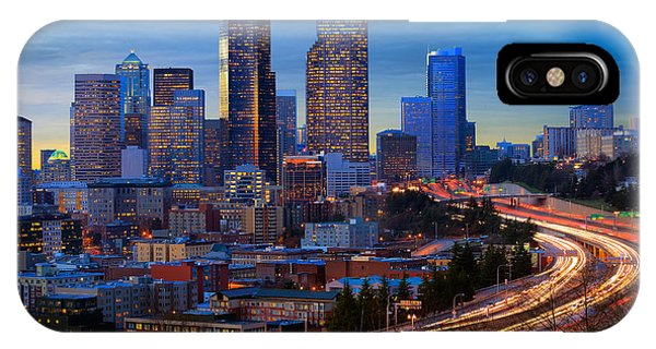 Downtown Seattle iPhone Case - Seattle Downtown by Inge Johnsson