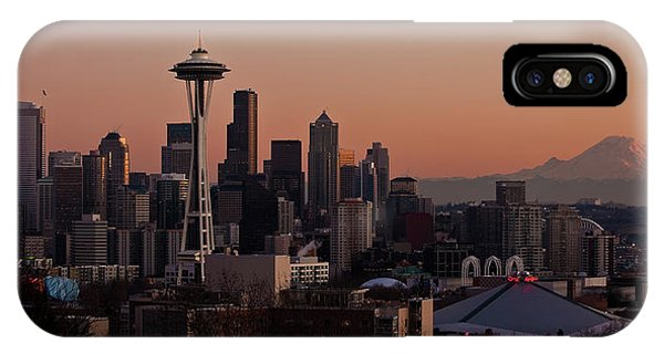 Downtown Seattle iPhone Case - Seattle Evening Mood by Mike Reid