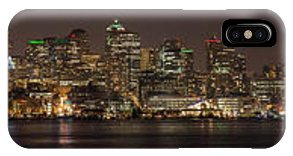 Downtown Seattle iPhone Case - Seattle Lake Union Winter Reflection by Mike Reid
