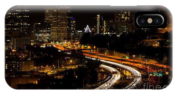 Seattle Light Trails IPhone Case