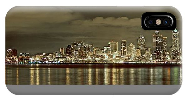Seattle Lights At Night From Alki IPhone Case