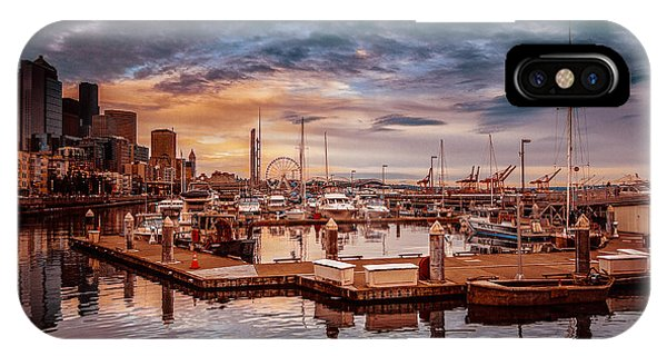 Seattle Marinescape. IPhone Case