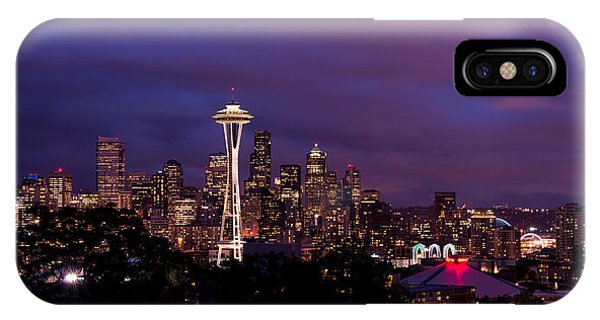 Downtown iPhone Case - Seattle Night by Chad Dutson