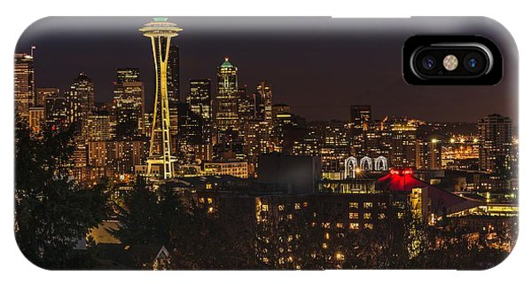 Seattle Night Lights IPhone Case