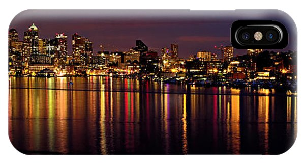 Seattle Night Reflections IPhone Case