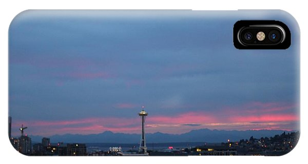 Seattle Pink And Blue IPhone Case
