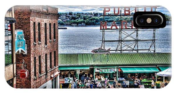 Seattle Public Market II IPhone Case