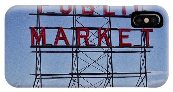 Seattle Public Market Phone Case by Ron Roberts