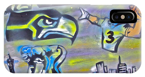 Mtv iPhone Case - Seattle Seahawks 2 by Tony B Conscious
