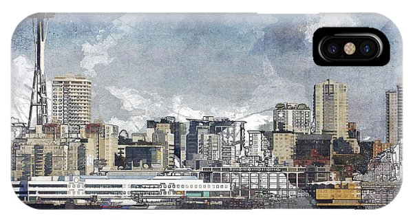 Seattle Skyline Freeform IPhone Case