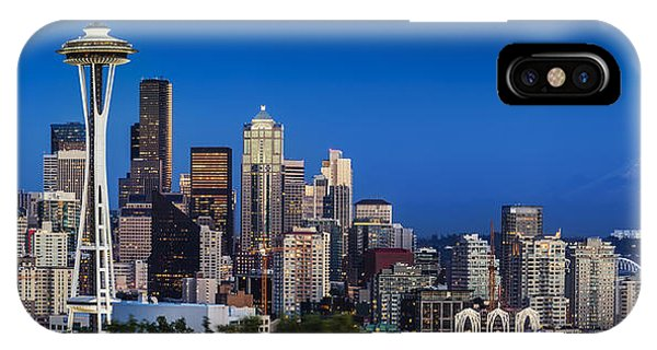 IPhone Case featuring the photograph Seattle Skyline Panoramic by Brian Jannsen