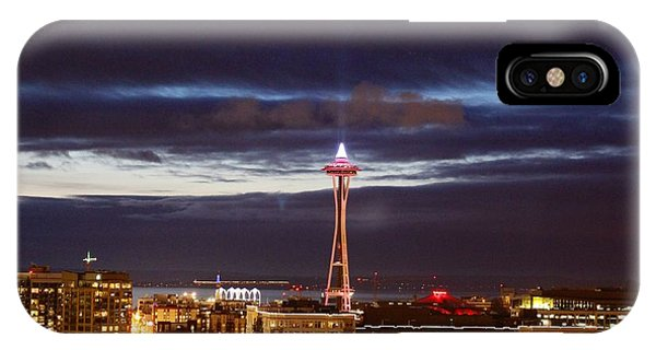 Seattle Space Needle Holidays  IPhone Case