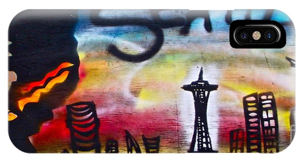 Mtv iPhone Case - Seattle Street Art by Tony B Conscious