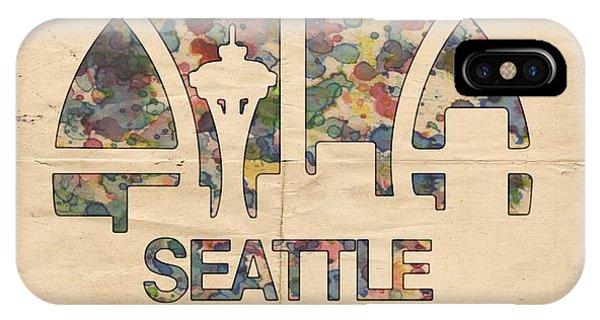 Seattle Supersonics Poster Vintage IPhone Case