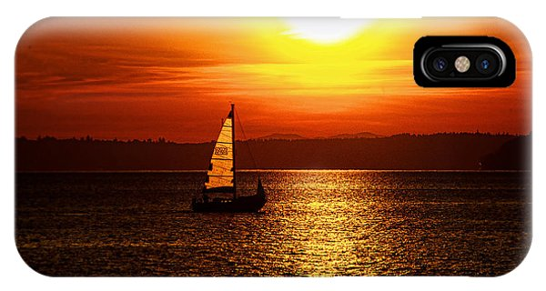 Seaview Sunset IPhone Case