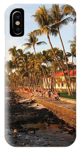 Seawall At Sunset IPhone Case