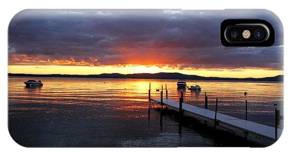 Sebago Lake Sunset IPhone Case