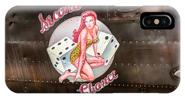 Second Chance - Aircraft Nose Art - Pinup Girl IPhone Case