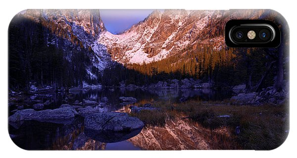 Rocky Mountain Landscape iPhone Case - Second Light by Chad Dutson