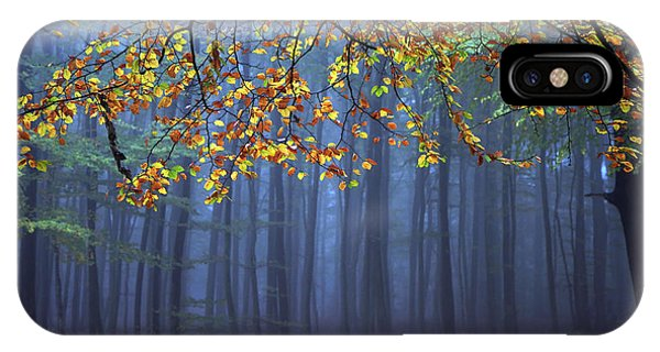 Forest iPhone Case - Seconds Before The Light Went Out by Roeselien Raimond