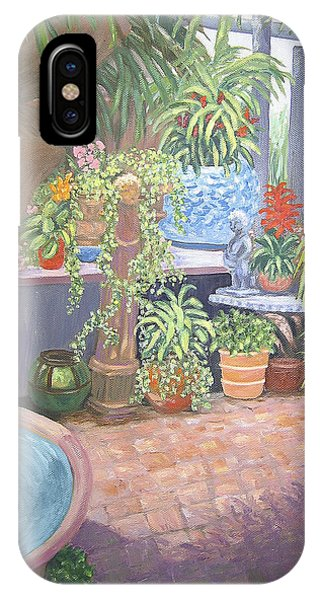 IPhone Case featuring the painting Secret Garden by Karen Zuk Rosenblatt