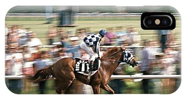 Secretariat Race Horse Winning At Arlington In 1973. IPhone Case