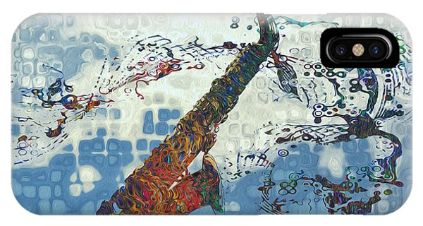 Saxophone iPhone Case - See The Sound 2 by Jack Zulli