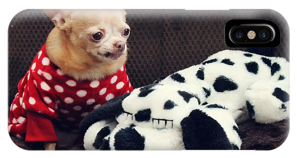 Chihuahua iPhone Case - Seeing Spots by Laurie Search